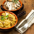Risotto with saffron and mushrooms — Stock Photo #10195578