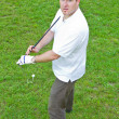 Stock Photo: An image of a young male golf player