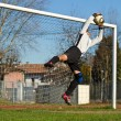 Soccer football goalkeeper — Stock Photo