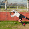 Soccer football goalkeeper — Stock Photo #7994263