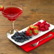 Fruit juice with berries — Stock Photo