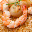 Royalty-Free Stock Photo: Risotto with seafood sauce with scallops and prawns