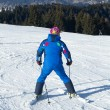 Skier man in italy mountain - Stockfoto