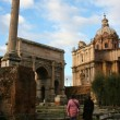 Stock Photo: Italy. Rome. Ruins of forum and Vittoriano