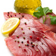Filet of fresh tuna — Stock Photo