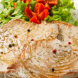 Tuna filet with salad — Stock Photo #9259378