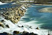 Río adda en el norte de italia — Foto de Stock
