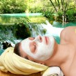 Stock Photo: Natural outdoor spa treatment
