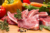 Cutlet of lamb with vegetables — Stock Photo