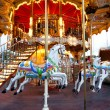 Colorful Carousel in Paris - Stock Photo