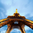 Eiffel Tower in the evening - Stock Photo