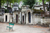 Tombs at Pere Lachaise cemetery — Stock Photo