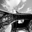 Eiffel Tower from the bottom. Paris, France — Stock Photo #9266051