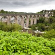 The old bridge at Dinan - Stock Photo