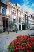 Calm street of Amsterdam — Stock Photo