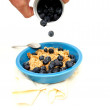 Cereal And Fresh Blueberries — Stock Photo