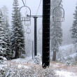 Stock Photo: Old Abandoned Ski Lift
