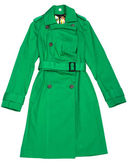 Green Women's raincoat — Stock Photo