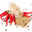 Bottle with seasonings — Stock Photo