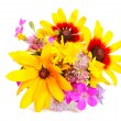 Bouquet of miscellaneous flowers — Stock Photo
