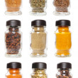 Bottles with seasonings — Stock Photo