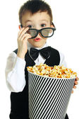 Boy with popcorn — Stock Photo