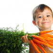 Постер, плакат: Boy with carrots