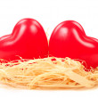 Stockfoto: Hearts in nest