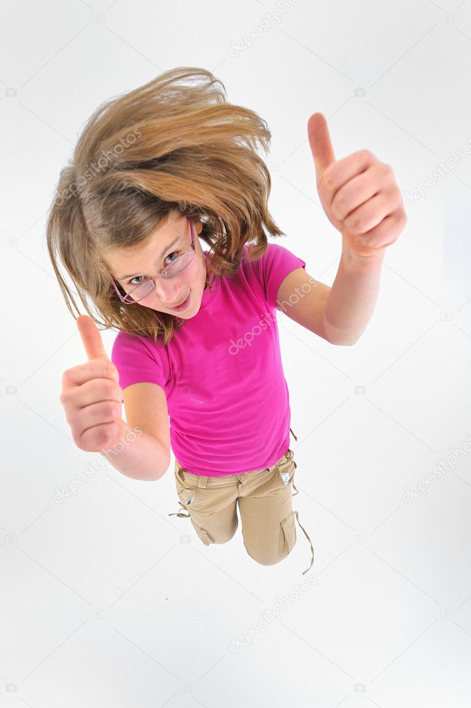 Teen girl jumping — Stock Photo #10132404