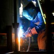 Welding with mig-mag method — Stock Photo #8173782