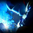 Welding with mig-mag method - Stock Photo