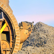 Bucket wheel excavator for digging the brown coal - Stock Photo