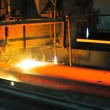 Gas cutting of the hot metal - Stockfoto