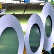 Rolls of zinc steel sheet — Stock Photo #8531497
