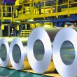 Rolls of zinc steel sheet — Stock Photo