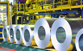 Rolls of zinc steel sheet — Stock Photo