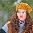 Young Beautiful Womin winter time — Stock Photo #8638238