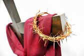 The crown of thorns and the cross — Foto de Stock