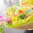 Basket with easter eggs — Stockfoto #8953601