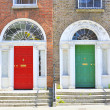 Georgian doors in Dublin - Stock Photo