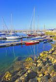Yachts docked at Howth harbor in ireland — Stock Photo