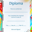 Stock Photo: School Diploma