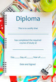 School Diploma — Stock Photo