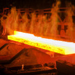 Hot steel from oven — Stock Photo