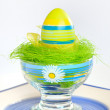 Painted Colorful Easter Egg — Stock fotografie #9618802