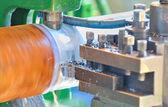 Turning lathe in action — Stock Photo