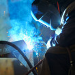 Welding with mig-mag method — Stock Photo #9666017