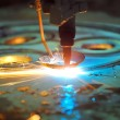Laser cutting metal sheet — Lizenzfreies Foto