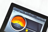 Tablet and Virtual Instruments — Stock Photo