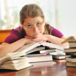 Stock Photo: Teenager girl learning